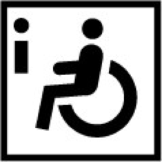 """Logo """"Information zur Barrierefreiheit"""", Bild"""
