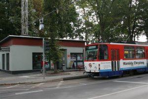 Alte Tatra-Straßenbahn am Lustgarten, Bild