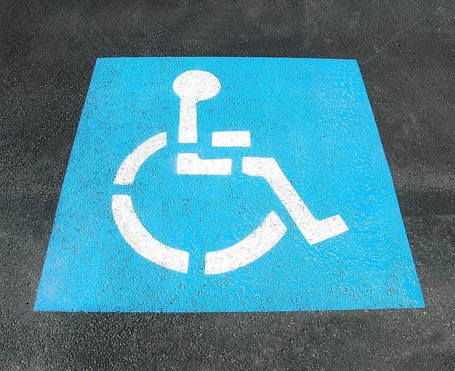 Piktogramm Bildsymbol Rollstuhlfahrer