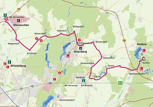 "Karte Radtour ""Auf dem Holzweg"""