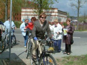 Radfahrerin, Bild