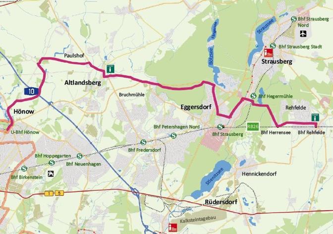 """Kartografie zur Radroute """"Auf dem ZR1 durch die Region"""""""