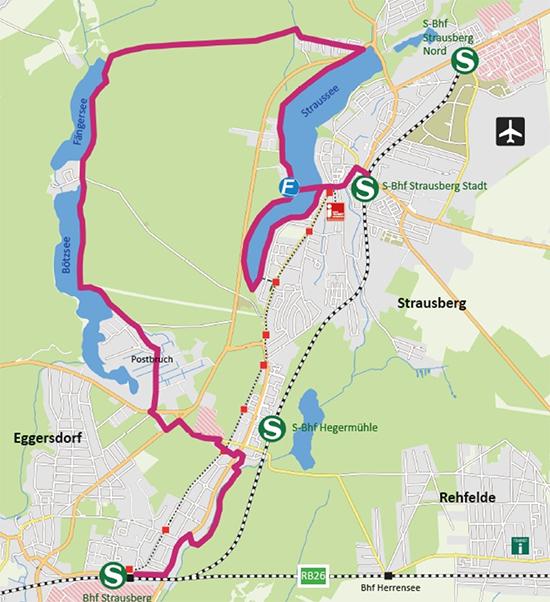"""Karte """"Drei-Seen-Wanderung"""""""