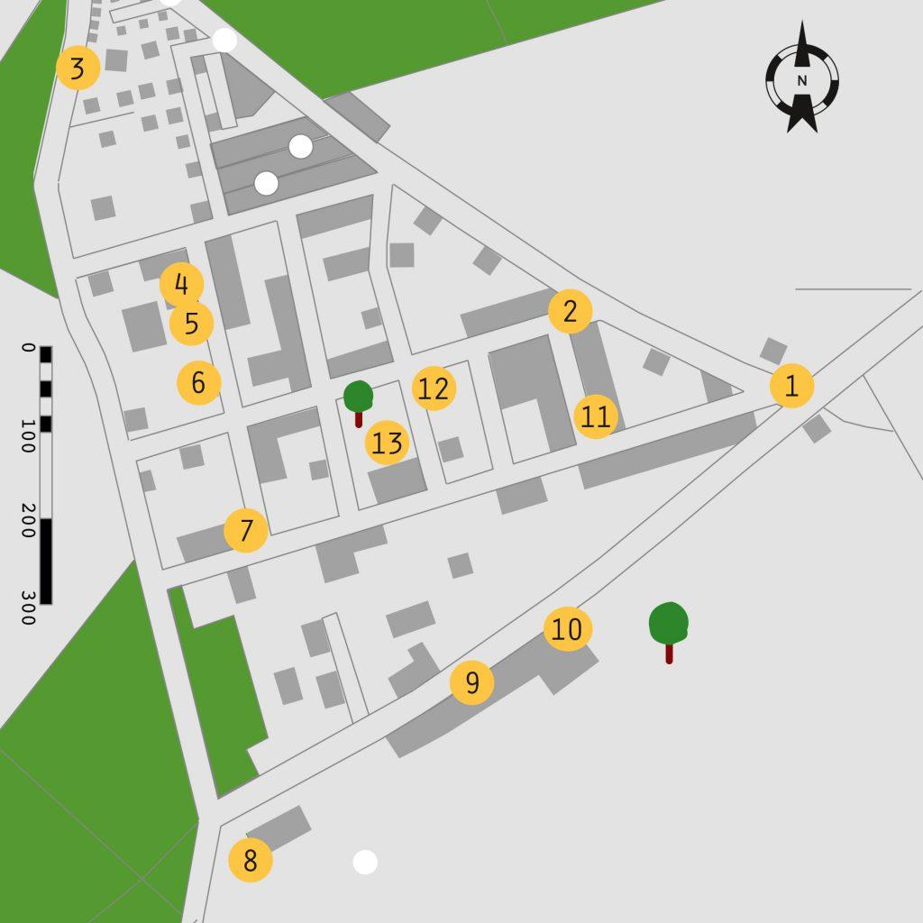 Kartenausschnitt Gladowshöhe