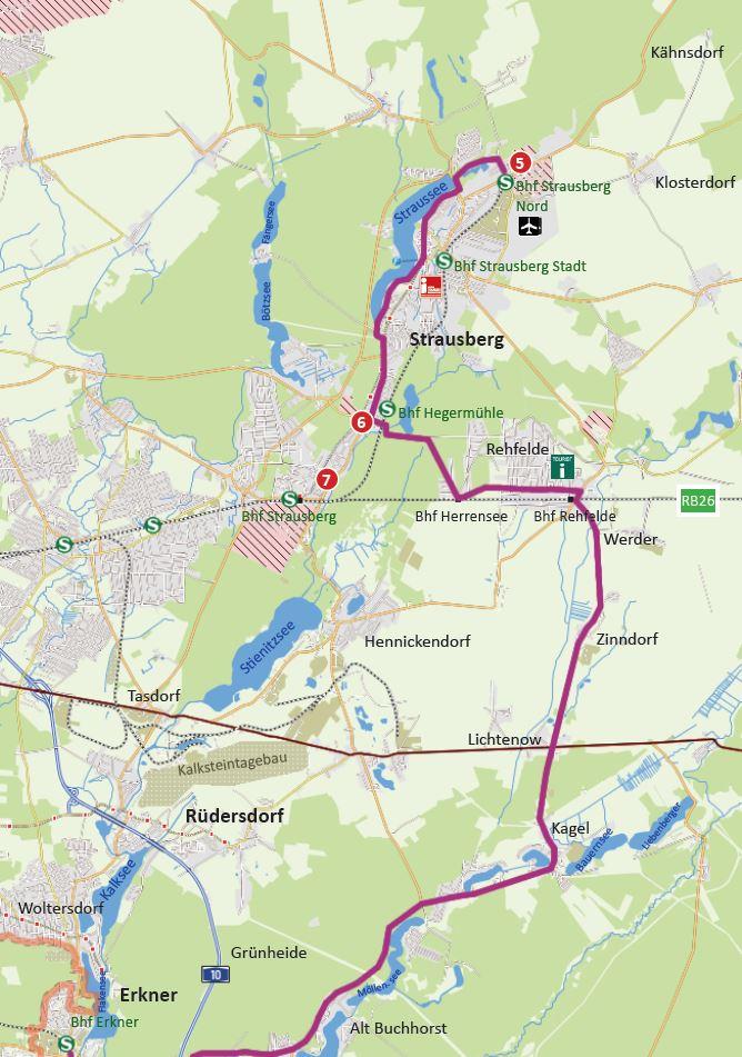 "Kartenausschnitt ""Tour Brandenburg"""