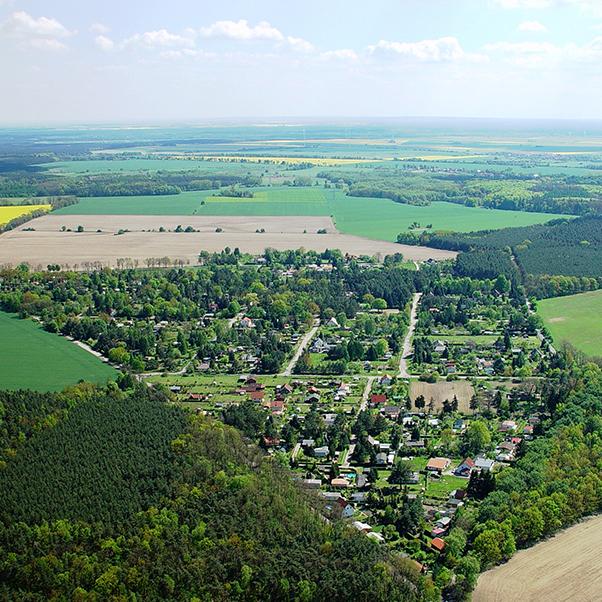 Luftbildaufnahme Ortsteil Gladowshöhe