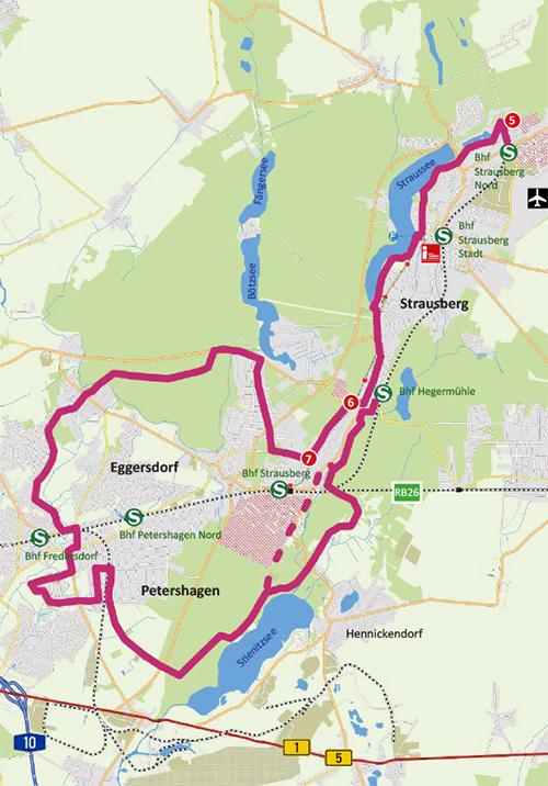 """Karte Radtour """"Wald und Wiese"""""""