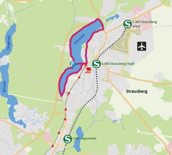 """Karte """"Strausberger Seesichten-Wanderweg"""""""
