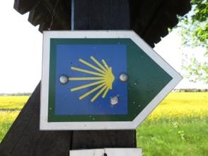 """Wanderwegsmarkierung """"Jakobsweg"""", Foto"""