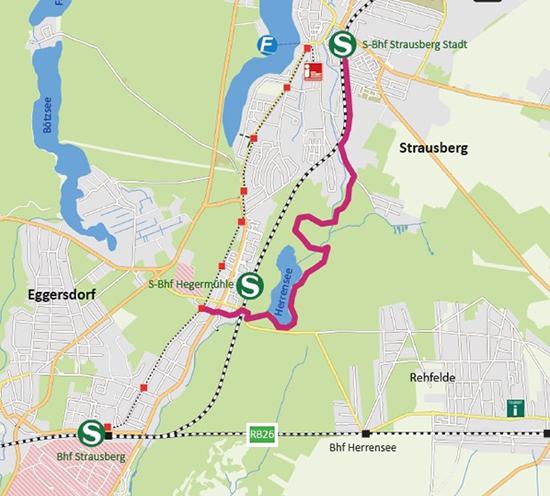 """Karte """"Herrenseewanderung"""""""