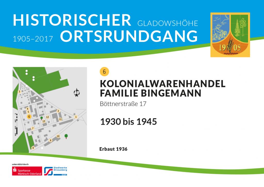 Kolonialwarenhandel Familie Bingemann