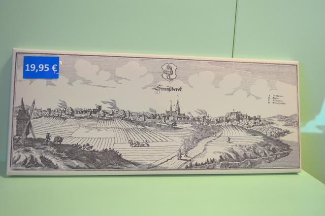 Foto: Leinwand mit historischer Stadtansicht