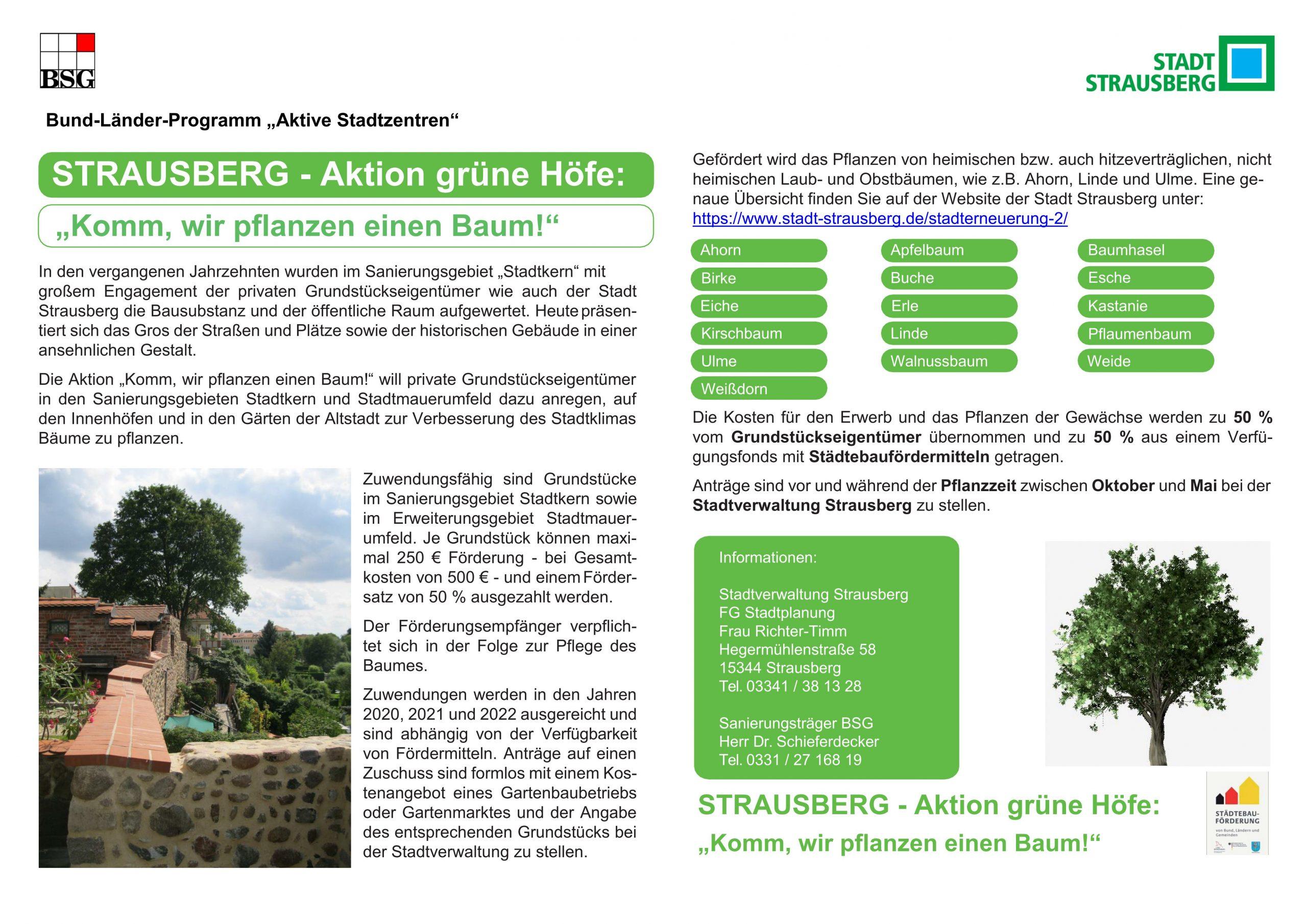 Plakat Grüne Höfe